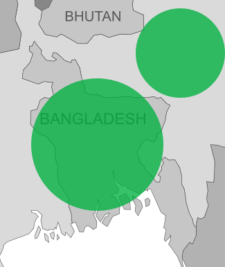 Boron deficiency map for Bangladesh