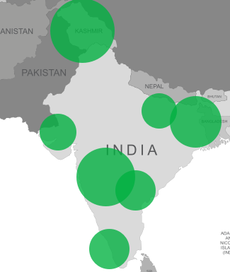 Boron deficiency map for India