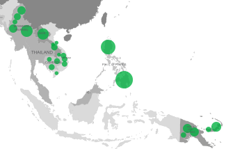 Boron deficiency map of Cambodia, Laos, Myanmar, Papua New Guinea, Philippines, and Vietnam